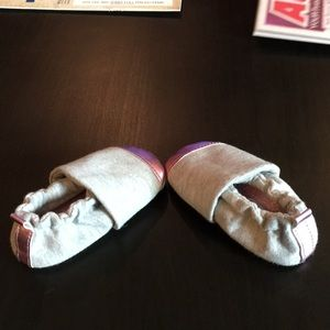 teeny toes Shoes - Pink and gray shoes